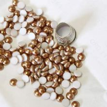 Preciosa Flat Back Bronze Pearl Cabochons in 2 sizes